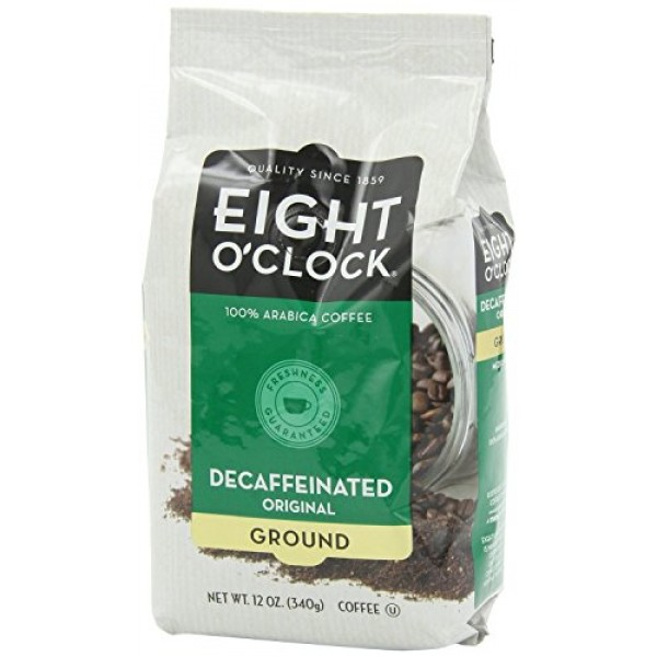 Eight OClock Coffee, Decaffeinated Ground, 12-Ounce Bag