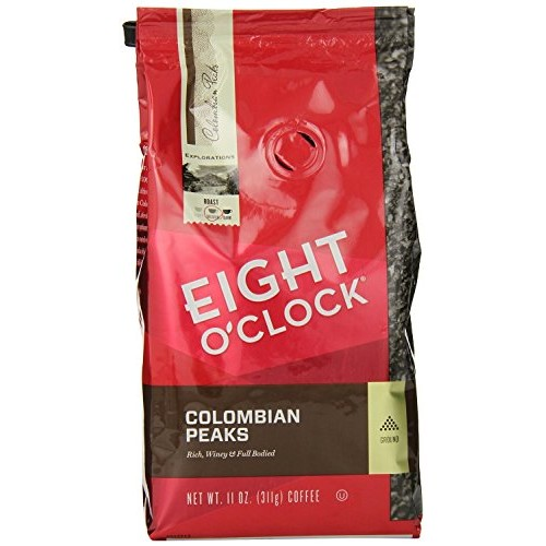 Eight OClock - Colombian Peaks - Ground Coffee, 11-Ounce Bags ...