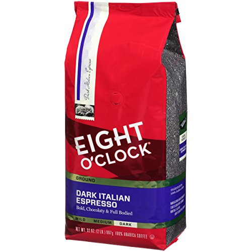 Eight OClock Ground Coffee, Dark Italian Espresso, 32 Ounce