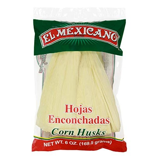 El Mexican Corn Husks 6oz Hojas Para Tamal Single