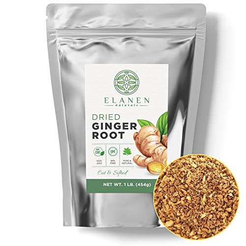 Dried Ginger Root 1 lb. 16 oz., Contains Organic Non-GMO Ginge...