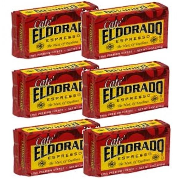 Cafe El Dorado 6 PACK Espresso Coffee 6 x 9 oz