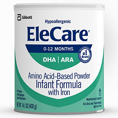 EleCare for Infants Unflavored Powder with DHA/ARA - 14.1 ounces...