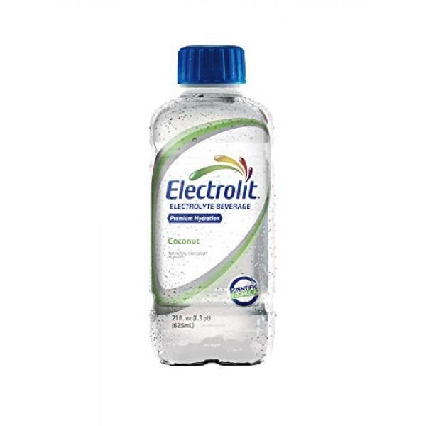 Electrolit Electrolyte Hydration & Recovery Drink, 21oz, Coconut...