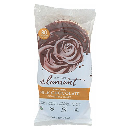 ELEMENT, Rice Cake, Og2, Milk Choc, Pack of 6, Size 3.5 OZ, Low...