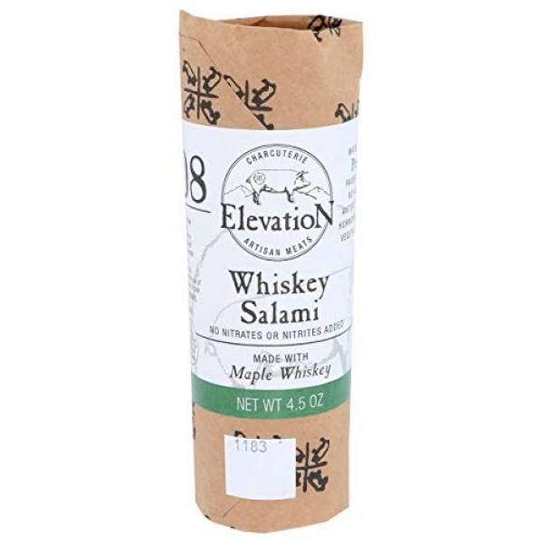 Elevation Artisan Meats, Salami Whiskey Maple, 4.5 Ounce