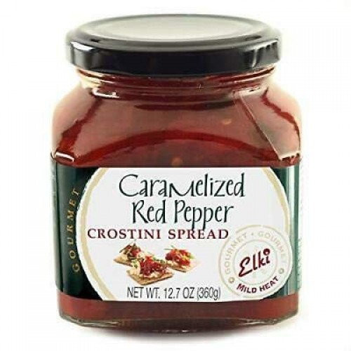 Elkis Gourmet Caramelized Red Pepper Crostini Spread, 12.7 Ounc...