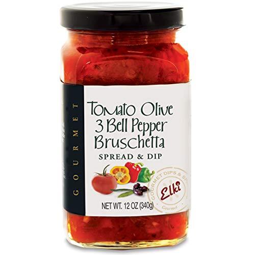 Elkis Gourmet Tomato Olive & 3 Bell Pepper Bruschetta   Delicio...