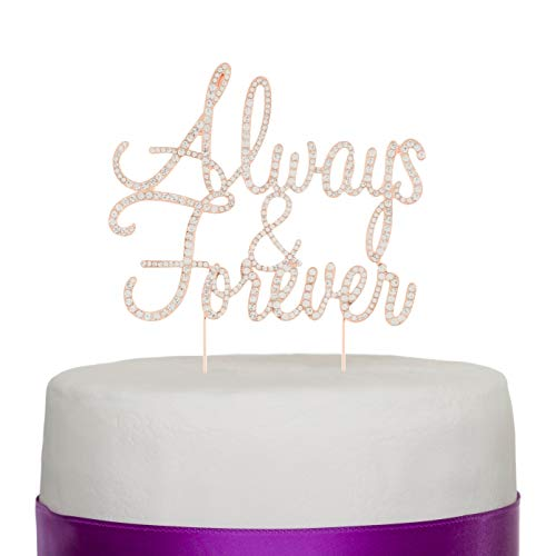 Ella Celebration Always and Forever Wedding Cake Topper, Romanti...