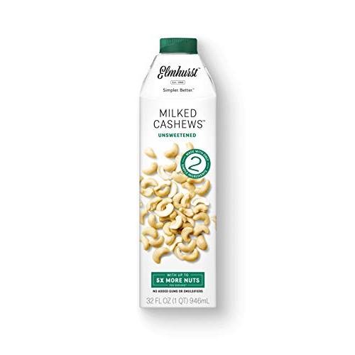 Elmhurst Milked - Unsweetened Cashew Milk - 32 Fluid Ounces (Pac...