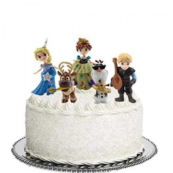 5Pcs Frozen cake topper Action Figure Toys Premium Frozen Cake T...