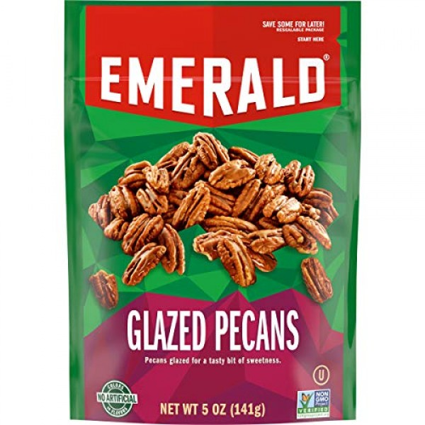 Emerald Nuts, Glazed Pecans, 5 Ounce Resealable Bag