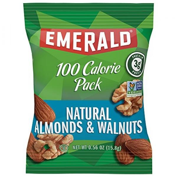 Emerald Nuts, Natural Walnuts & Almonds 100 Calorie Packs, 7 Cou...