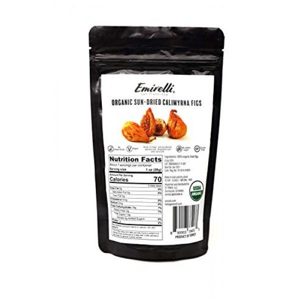 Emirelli Organic Calimyrna Figs, Vegan and Natural Sunny Fruits,...