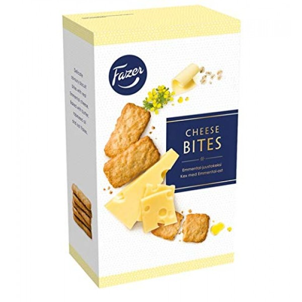 Fazer Emmental Cheese Bites Biscuits 1 Box of 160g 5.6 oz