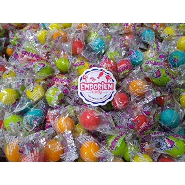 Crybaby Super Sour Gumballs - 1.5 lbs of Individually Wrapped Fr...
