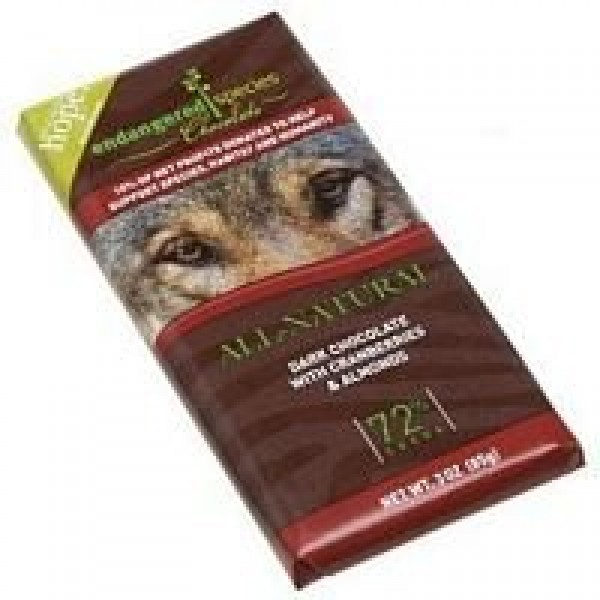 Endangered Species Chocolate Dark Chocolate with Cranberry and A...