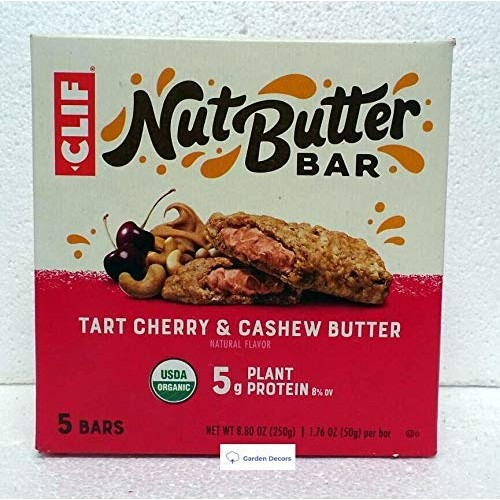 Clif Organic Fruit Smoothie Filled Bar Tart Cherry Berry (5 Bars)