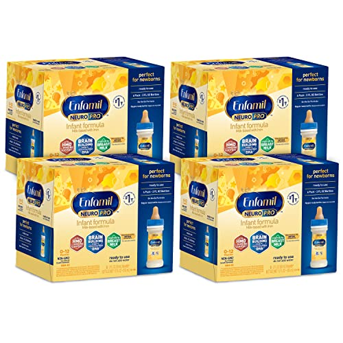 Enfamil NeuroPro Ready to Feed Baby Formula Milk, 2 fluid ounce ...