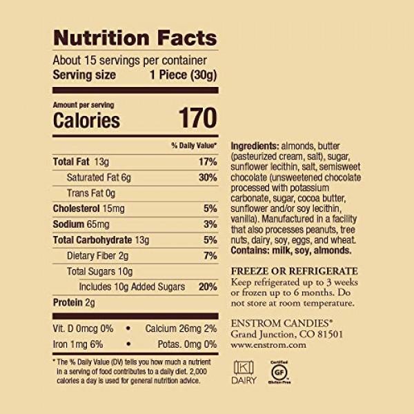 ALMOND TOFFEE - 1lb. DARK CHOCOLATE