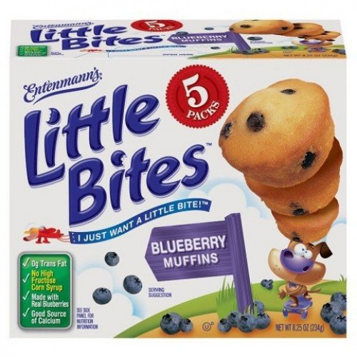 Entenmanns Little Bites 5 ct Blueberry Muffins 8.25 oz
