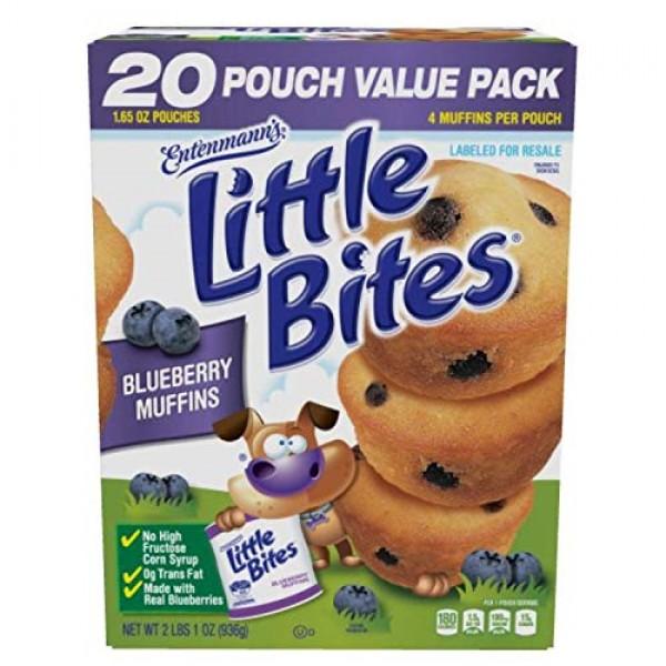 Entenmanns Little Bites Muffins 20 Pouches/80 Muffins Bonus 1 In...