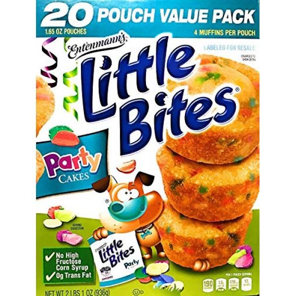 Entenmanns Little Bites Party Cakes Muffins 20 Pouches