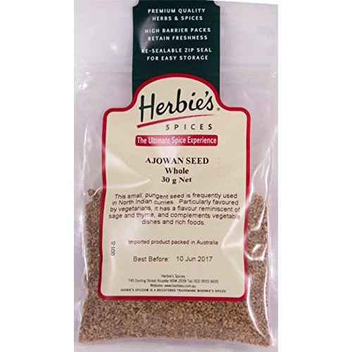 Herbies Spices Ajowan Seed (Whole) - 30g