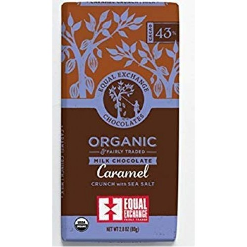 Equal Exchange Organic Caramel Milk With Sea Salt Crunch Chocola...
