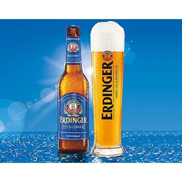 Erdinger Non-Alcoholic Malt Beer, 11.2 fl oz 24 Glass Bottles