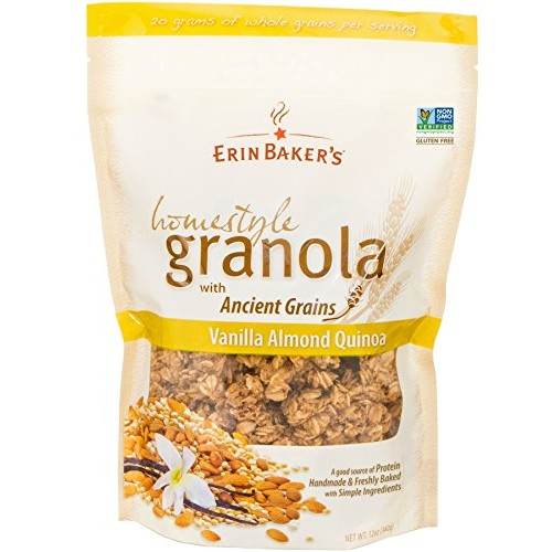Erin Bakers Homestyle Granola, Vanilla Almond Quinoa, Gluten-Fr...
