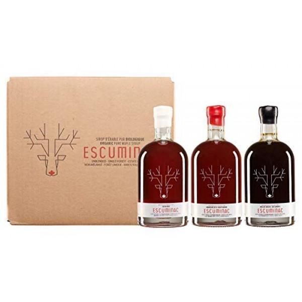 Award Winning Escuminac Canadian Maple Syrup Gift Bundle Grade A...
