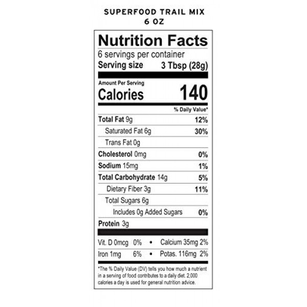Essential Living Foods Organic Superfood Trail Mix, Figs, Mulber...