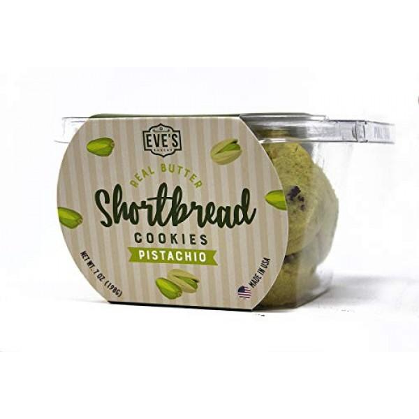 Eves Bakery Shortbread Cookies, 7 Oz, 2 Pack Pistachio