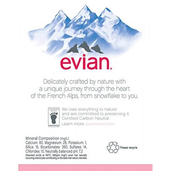 evian Natural Spring Water Bottles, Naturally Filtered Spring Wa...