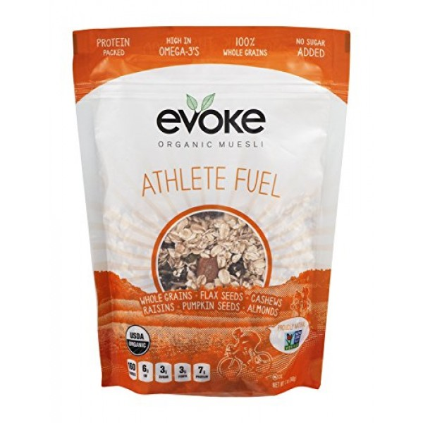 Evoke Organic Muesli Cereal, Athlete Fuel, 12 oz, No Added Sugar...