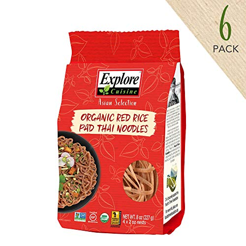 Explore Cuisine Organic Red Rice Pad Thai Noodles 6 Pack - 8 o...