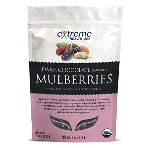 Extreme Health USA Organic Mulberries Covered with Dark Chocolat...
