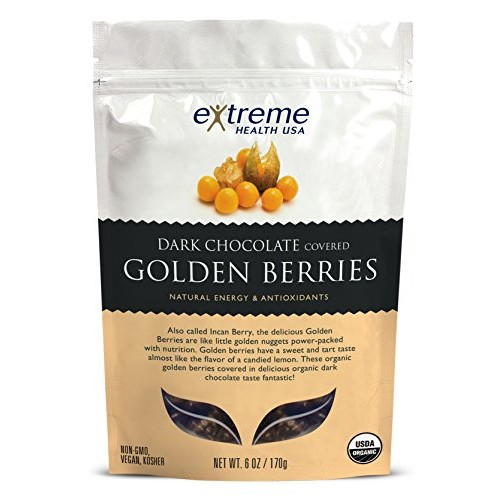 Extreme Health Usa Organic Golden Berries Covered with Dark Choc...