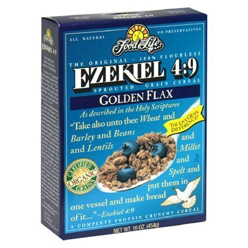 Food For Life Ezekiel 4:9 - Organic Flax Sprouted Whole Grain Ce...