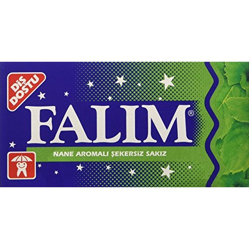 Falim Sugarless Plain Gum Individually Wrapped, Mint Flavored, 1...