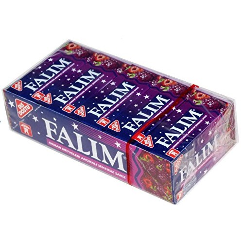 Falim Plain Gum - Forrest Fruits Flavoured- 20 * 5 = 100 Pieces