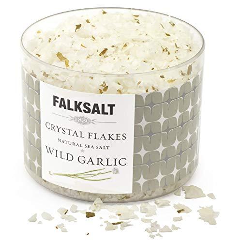 FALKSALT Wild Garlic Sea Salt Flakes - All Natural, Finishing Me...