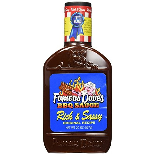Famous Daves BBQ Sauce, Rich & Sassy, Original Recipe,20 oz, p...