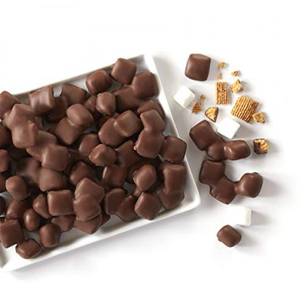 Fannie May Smores Snack Mix, Milk Chocolate Covered Mini Marshm...