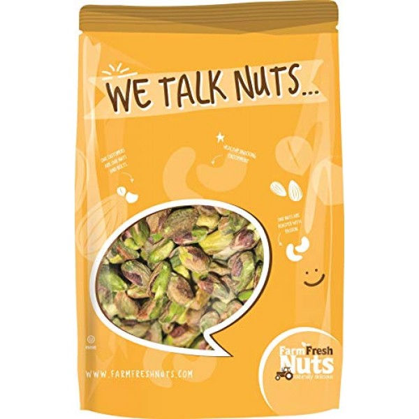 California Pistachios Kernels Roasted with Sea Salt SHELLED Br...
