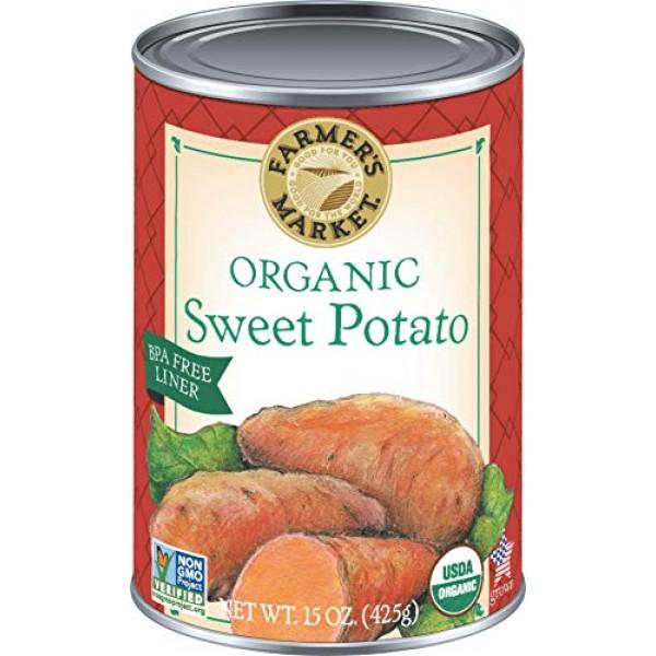 Farmers Market Organic Sweet Potato Puree, 15-Ounce Cans Pack ...