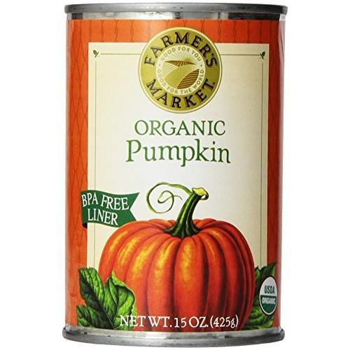 Farmers Market Foods, Organic Canned Pumpkin, 15 Ounce