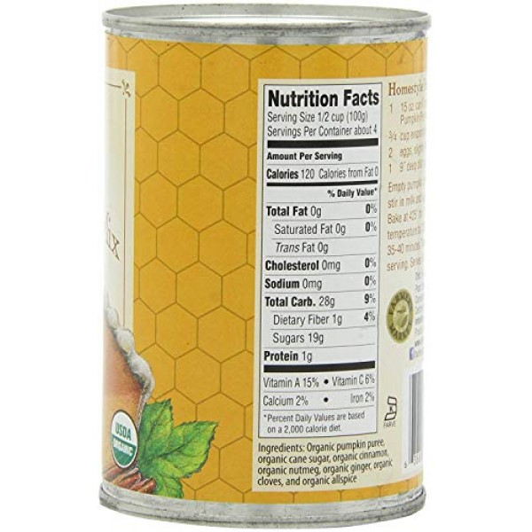 Farmers Market Foods Canned Organic Pumpkin Pie Filling Puree M...