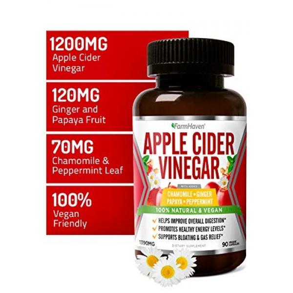 Apple Cider Vinegar Capsules with Ginger, Papaya & Chamomile   1...
